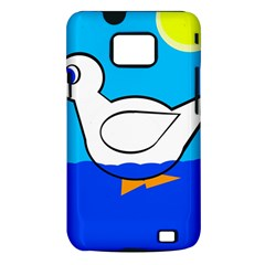 White duck Samsung Galaxy S II i9100 Hardshell Case (PC+Silicone)
