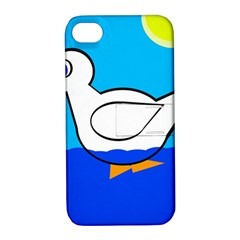 White duck Apple iPhone 4/4S Hardshell Case with Stand
