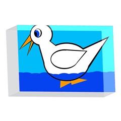 White duck 4 x 6  Acrylic Photo Blocks