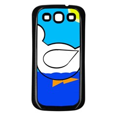 White duck Samsung Galaxy S3 Back Case (Black)