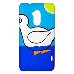 White duck HTC One Max (T6) Hardshell Case