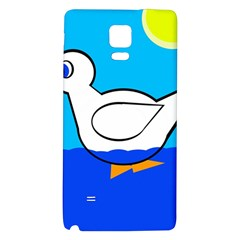 White duck Galaxy Note 4 Back Case