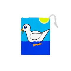 White duck Drawstring Pouches (XS)