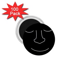 Sleeping face 1.75  Magnets (100 pack)