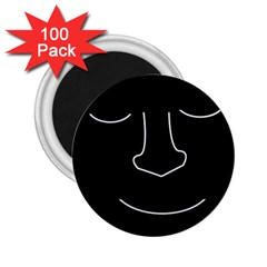 Sleeping face 2.25  Magnets (100 pack)