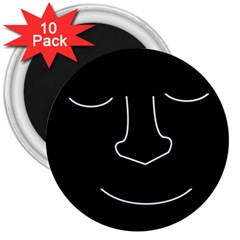 Sleeping face 3  Magnets (10 pack)