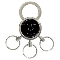Sleeping face 3-Ring Key Chains
