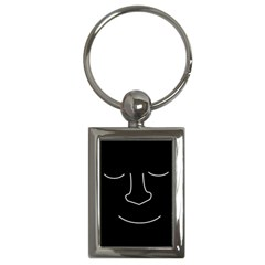 Sleeping face Key Chains (Rectangle)