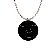 Sleeping face Button Necklaces