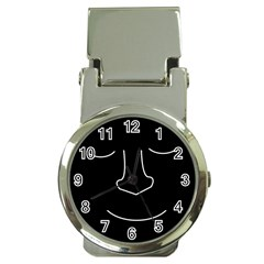 Sleeping face Money Clip Watches