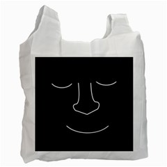 Sleeping face Recycle Bag (One Side)