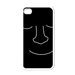 Sleeping face Apple iPhone 4 Case (White)