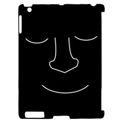 Sleeping face Apple iPad 2 Hardshell Case (Compatible with Smart Cover)