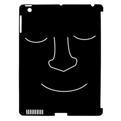 Sleeping face Apple iPad 3/4 Hardshell Case (Compatible with Smart Cover)