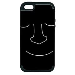 Sleeping face Apple iPhone 5 Hardshell Case (PC+Silicone)