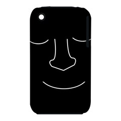 Sleeping face Apple iPhone 3G/3GS Hardshell Case (PC+Silicone)