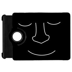 Sleeping face Kindle Fire HD Flip 360 Case