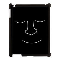 Sleeping face Apple iPad 3/4 Case (Black)