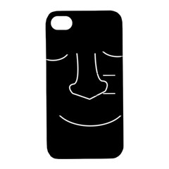 Sleeping Face Apple Iphone 4/4s Hardshell Case With Stand