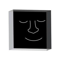 Sleeping face 4 x 4  Acrylic Photo Blocks