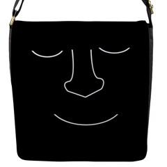 Sleeping face Flap Messenger Bag (S)