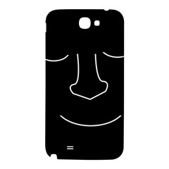 Sleeping face Samsung Note 2 N7100 Hardshell Back Case