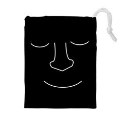 Sleeping face Drawstring Pouches (Extra Large)