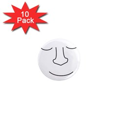 Sleeping face 1  Mini Magnet (10 pack)