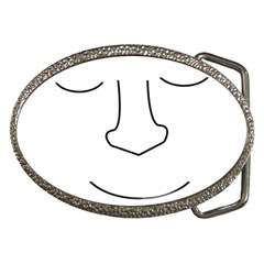 Sleeping face Belt Buckles