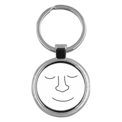 Sleeping face Key Chains (Round)