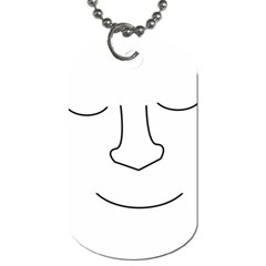 Sleeping face Dog Tag (Two Sides)