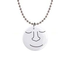 Sleeping face Button Necklaces