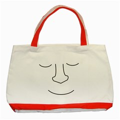 Sleeping face Classic Tote Bag (Red)