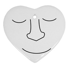 Sleeping face Heart Ornament (2 Sides)