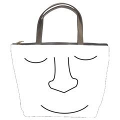 Sleeping face Bucket Bags
