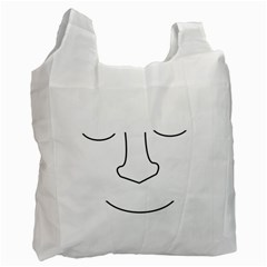 Sleeping face Recycle Bag (Two Side)