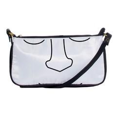 Sleeping face Shoulder Clutch Bags