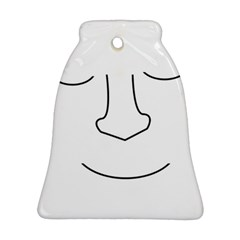 Sleeping face Bell Ornament (2 Sides)