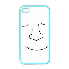 Sleeping face Apple iPhone 4 Case (Color)