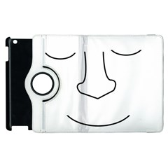 Sleeping face Apple iPad 2 Flip 360 Case