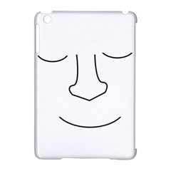 Sleeping face Apple iPad Mini Hardshell Case (Compatible with Smart Cover)