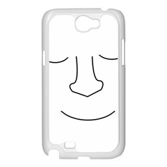 Sleeping face Samsung Galaxy Note 2 Case (White)