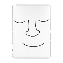 Sleeping face Samsung Galaxy Note 10.1 (P600) Hardshell Case
