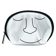 Sleeping face Accessory Pouches (Medium)