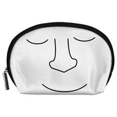 Sleeping face Accessory Pouches (Large)