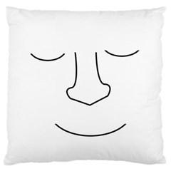 Sleeping face Large Flano Cushion Case (One Side)