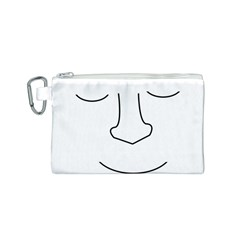 Sleeping face Canvas Cosmetic Bag (S)