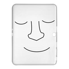 Sleeping face Samsung Galaxy Tab 4 (10.1 ) Hardshell Case