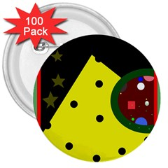 Abstract design 3  Buttons (100 pack)