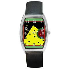 Abstract design Barrel Style Metal Watch